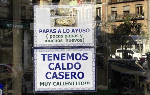 Gracias Madrid - papas a lo ayuso